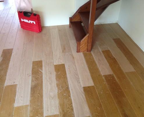 Nieuwegein reparatie Eiken vloer