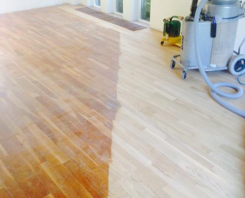 Schuren massief Eiken houten vloer