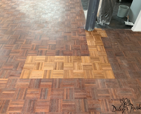 Merbau mozaik parket reparatie