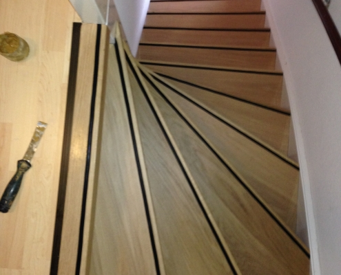 Eiken houten trap renovatie